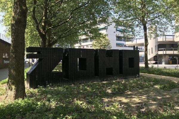 De ZoHo letters gevuld met de Slimme Regenton.